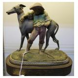 French 20th Century cast metal figurine of dog and