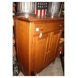 "Oak upright two drawer, double door cabinet 41.5"""