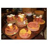 Autumn dinnerware Vietri made in Italy service for