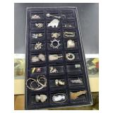 31 pieces Sterling jewelry incl charms, pendants,