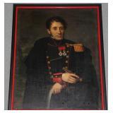 19th Century oil on canvas portrait of Napoleon *n