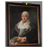 19th  Century European oil on canvas of matriarch