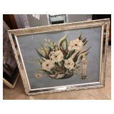 Mid Century Modern framed Turner floral print