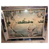 MCM Turner mirrored frame print of Flamingo