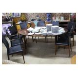 MCM Rosewood Danish dining table with two leaves a
