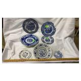 7 Blue and White Decorative Plates