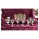 16pc Gold Accent Goblets and Drinking Glasses