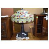 Leaded glass Tiffany style table lamp