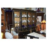 Oriental Hand Painted China Hutch