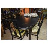 Oriental Dinning Table & 6 Chairs