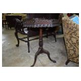 Antique 8 sided gallery top table