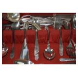 "60+ pcs flatware.Crown  Silverplate ""Radiance"