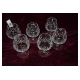 6 Waterford Lismore brandy glasses