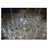 Huge assortment fine WMA crystal wine, water,