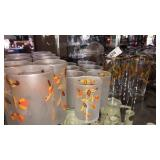 19 pieces Autumn Leaf drink ware   Inc 15 frosted