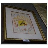 Picasso numbered print, 23- 11- 57, framed,