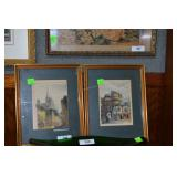 Pr. European prints of city life, signed?,