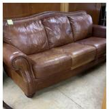 Large 3 cushioned  couch/sofa in medium brown