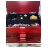 Loaded jewelry box with costume jewelry - some