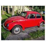 1972 VW Beetle  Odometer reads 19,501