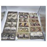 20 Pc. Antique Stereo View Cards