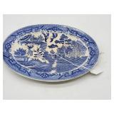Vintage Blue Willow Platter Japan