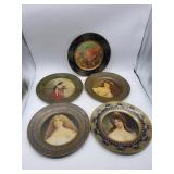 5 Pc. Dresden Art Plates