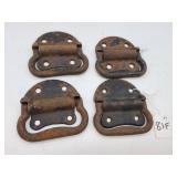 4 Pc. Vintage Cast Iron Trunk Handles