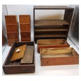 Vintage Wooden Spice Drawers Misc.