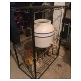 Wire Rack,with Water Jug And Contents