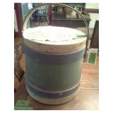 Antique Green Blue Firkin