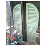 Antique Green Shutters ONLY
