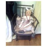 Rush Bottom Childs Chair 2 Dolls