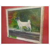 Dog Painting By Mildred Smith Bell 17 3/4 x 14
