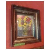 Yellow And Red Flowers Painting By D.H Touch???