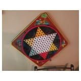 Vintage Metal Chinese Checkers Game board