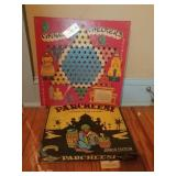 Vintage Chinese Checkers And Parcheesi Games