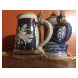 2 Mini German Steins