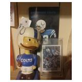 Colts Bobblehead, Johnny Unitas Trading Card And