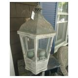 Giant Rustic Lantern Decoration With Glass Balls
