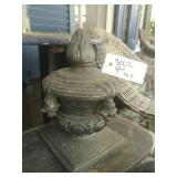 "Cast Iron Urn? 9"" Tall"