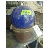 Flower Pot With Blue Globe