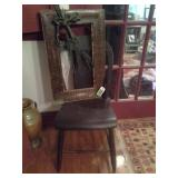 Antique Plank Bottom Chair And Frame