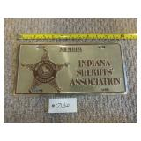 Member Indiana Sheriffs Association License Plate