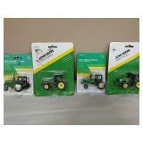 Lot of 1/64 scale John Deere tractors