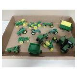 Lot of John Deere 1/64 scale and micro tractors