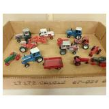 Lot 1/64 and micro miscellaneous tractors