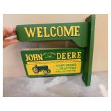 Wooden Wall Mounted JD Welcome Sign