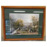 Framed JD Wall Hanging - By the water - Not Signed