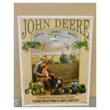 Metal John Deere Sign/Picture- 3rd Century Quality
